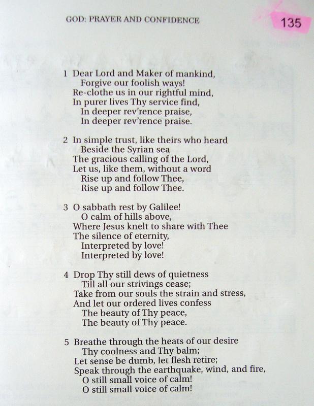 My 2002 Christadelphian Green Hymn Book With Guitar Chords 135 Dear