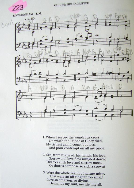 My 2002 Christadelphian Green Hymn Book with Guitar Chords