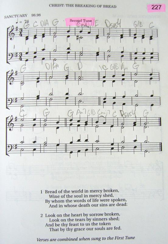 My 2002 Christadelphian Green Hymn Book with Guitar Chords (227 ...