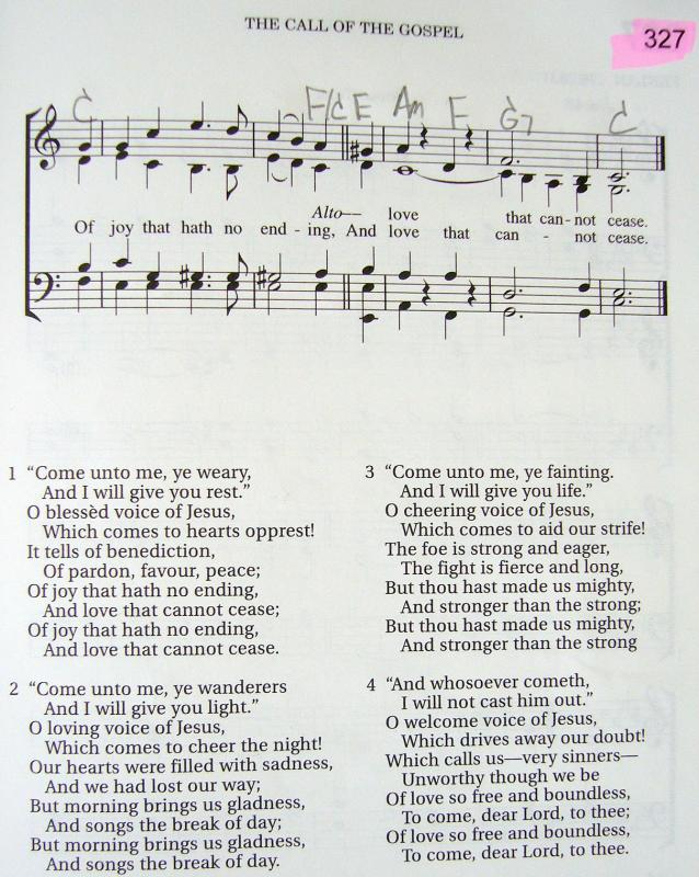 My 2002 Christadelphian Green Hymn Book With Guitar Chords 327 Come
