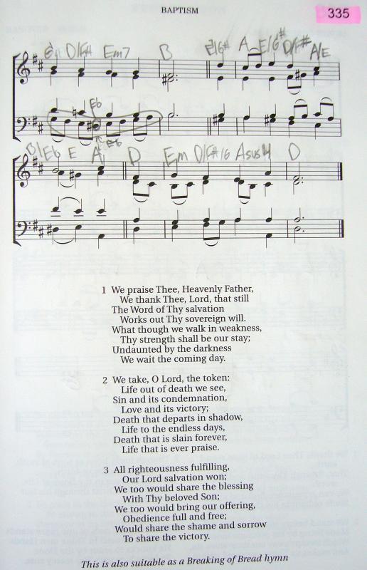 My 2002 Christadelphian Green Hymn Book with Guitar Chords (335-We ...