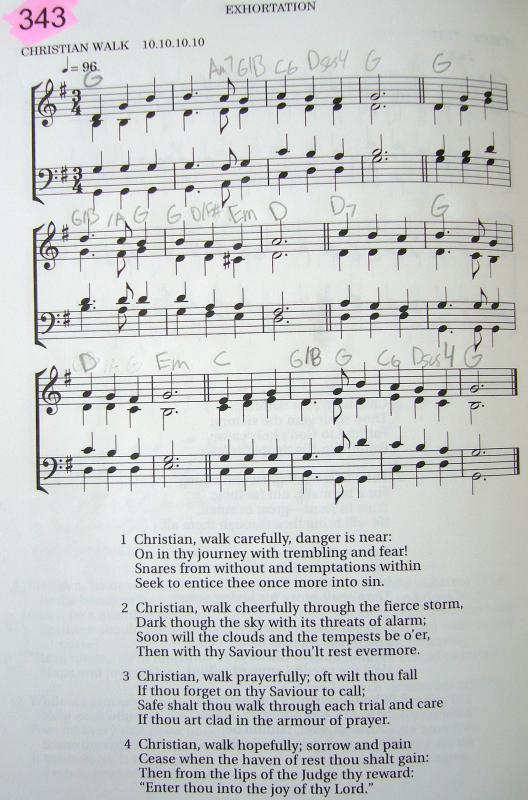 My 2002 Christadelphian Green Hymn Book with Guitar Chords (343 ...
